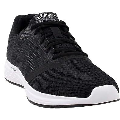 low priced 9fd5c dc1bf ASICS 1012A117 Women s Patriot 10 Running Shoe, Black White - 9.5 B(M