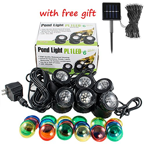 Set of 6 Jebao 12-LED Submersible Underwater Pool Pond Fountain Lights PL1LED USA Seller by iMeshbean®