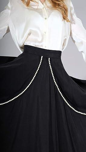 baab5fd8da Faldas - Falda Mujer - Falda Acampanada - Falda Negra - Falda tencel - Alta  calidad  Amazon.es  Handmade