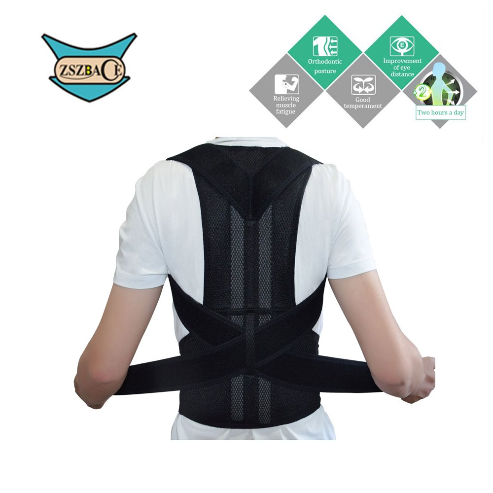 Adjustable Back Support Belt for Comfortable and Breathable Posture Appliance for Men and Women S-XXL (M)