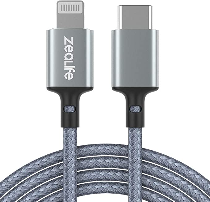 Lightning Cable Apple MFi Certified LiSEN iPhone Charger Cable 6ft, Nylon Braided USB Fast Charging Cord Compatible with iPhone X//Xs Max//XR // 8//8 Plus // 7//7 Plus iPad