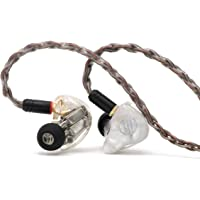 BGVP DM7 Premium 6 Balanced Armatures Knowles Sonion Drivers Earphones, with 3D Printed Resin Cavity, 8-core Single Crystal Copper Silver Foil MMCX Wire for Audiophile