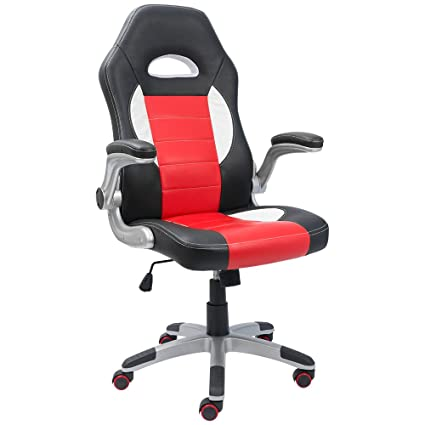 Devoko Office Chair High Back PU Leather Racing Style Chair, Ergonomic  Swivel Gaming Computer Chair