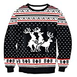 Bangerdei Unisex/Couple Ugly Christmas Series Funny Sweater Different Jumper Black H19 XL