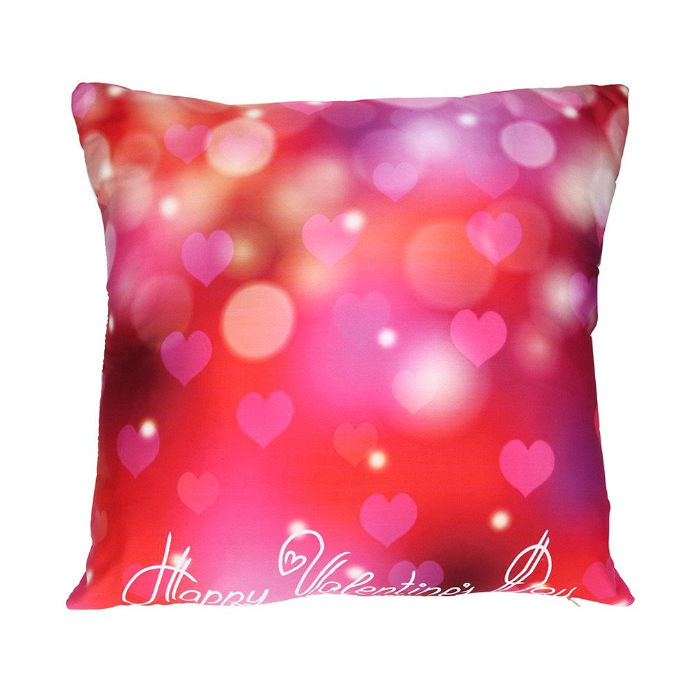 Mome Happy Valentine's Day Polyester Cushion Cover (D)