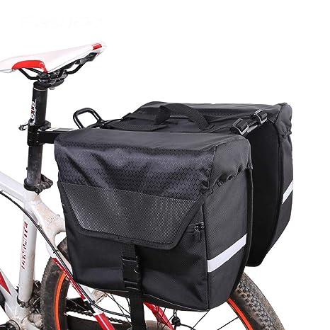 Bolso de alforjas de bicicleta, Alforja para maletero de bicicleta ...