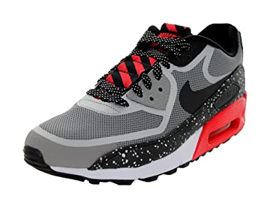 detailed pictures cf340 5f5be Amazon.com   Nike Men s Air Max 90 CMFT PRM Tape MDM Grey Blk Chllng  Rd White Running Shoe 11 Men US   Running