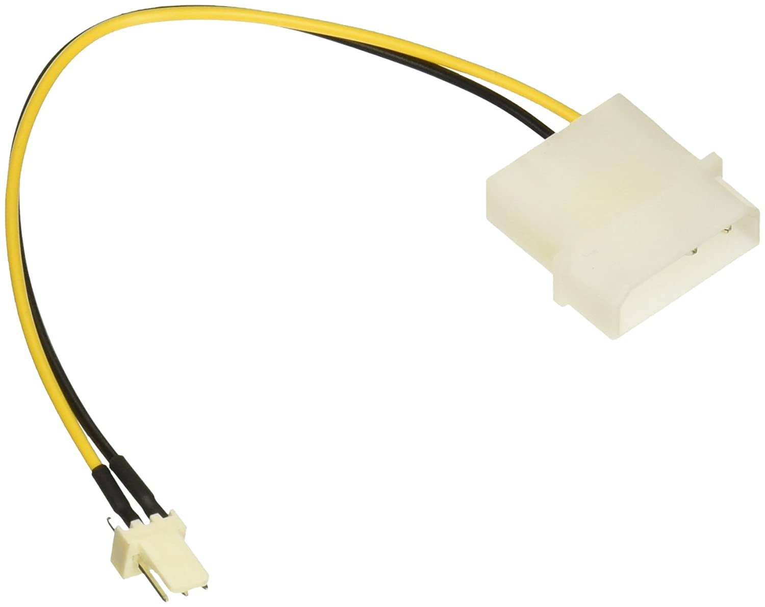 Cables To Go C2G 27077 3-Pin Fan to 4-Pin Power Adapter Cable 6 Inch
