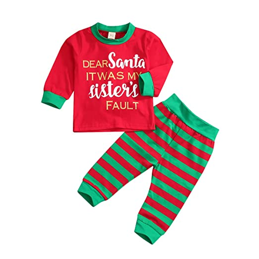 139c2714b06c Amazon.com  YOUNGER TREE Toddler Baby Boy Gril Christmas Clothes ...