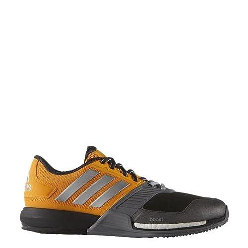 release date 5b7d8 5730d adidas Crazytrain Boost, Zapatillas de Tenis para Hombre,  NaranjaPlateadoGris (EqtnarPlamatGris), 42 EU Amazon.es Zapatos y  complementos