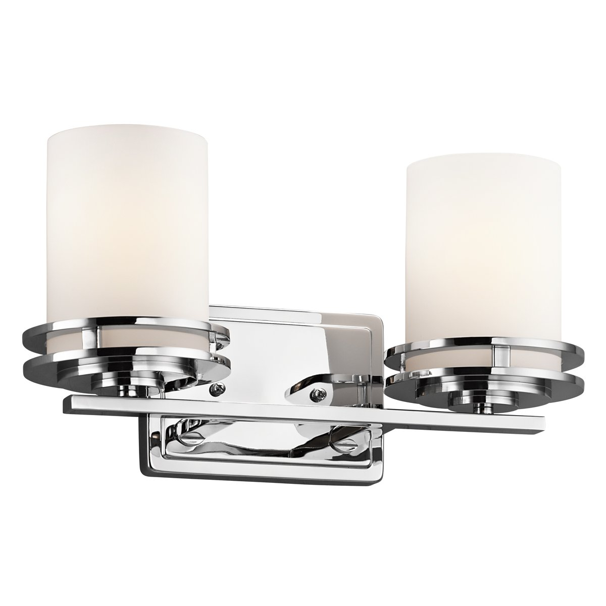 Kichler Lighting 5078ch Hendrik 3light Vanity Fixture, Chrome Finish With  Satin Etched Cased Opal Glass  Chrome Bathroom Light Fixtures  Amazon