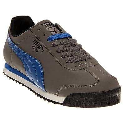 98a9df26b8fff Amazon.com: PUMA Men's Roma SL NBK2 Size 8.0(US) Grey-Blue-Black: Shoes