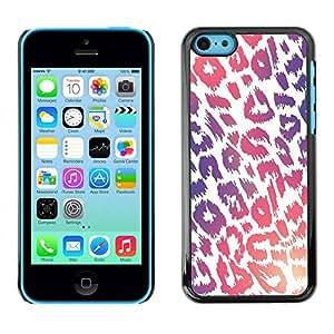 LASTONE PHONE CASE / Carcasa Funda Prima Delgada SLIM Casa Carcasa Funda Case Bandera Cover Armor Shell para Apple Iphone 5C / Pattern Purple Pink White Fur