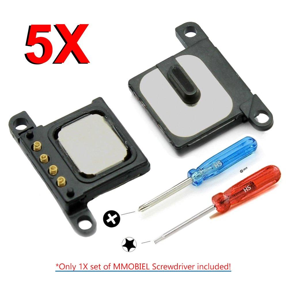2X Destornilladores para una f/ácil instalaci/ón. MMOBIEL Paquete de 5 Ensamblaje Auricular-Altavoz Ear Speaker para iPhone 6 de Repuesto Incl con ensamblaje de Escucha de Sonido y Voz