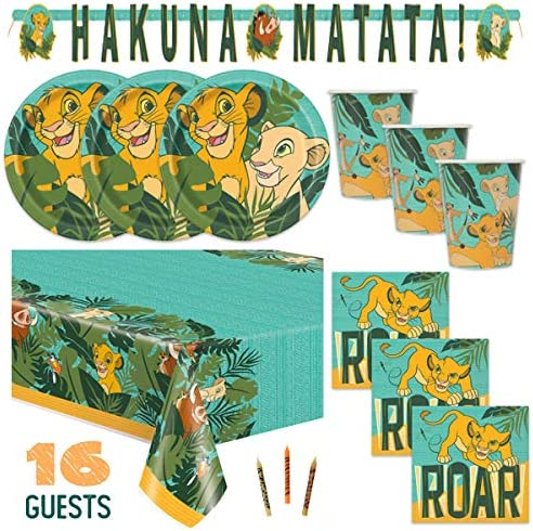 BirthdayExpress Lion King Party Supplies Plastic Tablecover 1 Pack