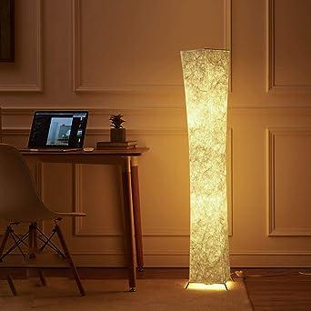 lvyuan Lámpara de Pie Moderna Bombilla LED incluida para la Decoración de la Sala de Estar