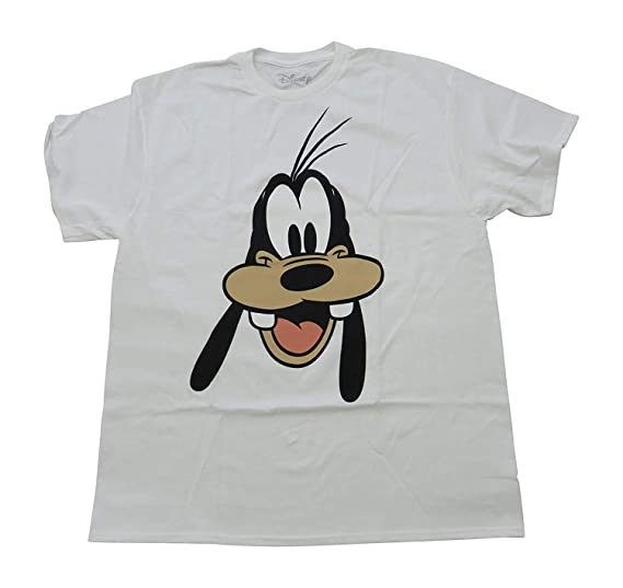 213d9a913bc Amazon.com  Disney Goofy Face Funny Costume Humor Graphic Men s Adult T-Shirt  Tee  Clothing