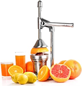 AILY Professional Orange Citrus Juicer, Manual Citrus Press Squeezer - Metal Lemon Squeezer - Heavy Duty Manual Orange Juicer and Lime Squeezer Press Stand