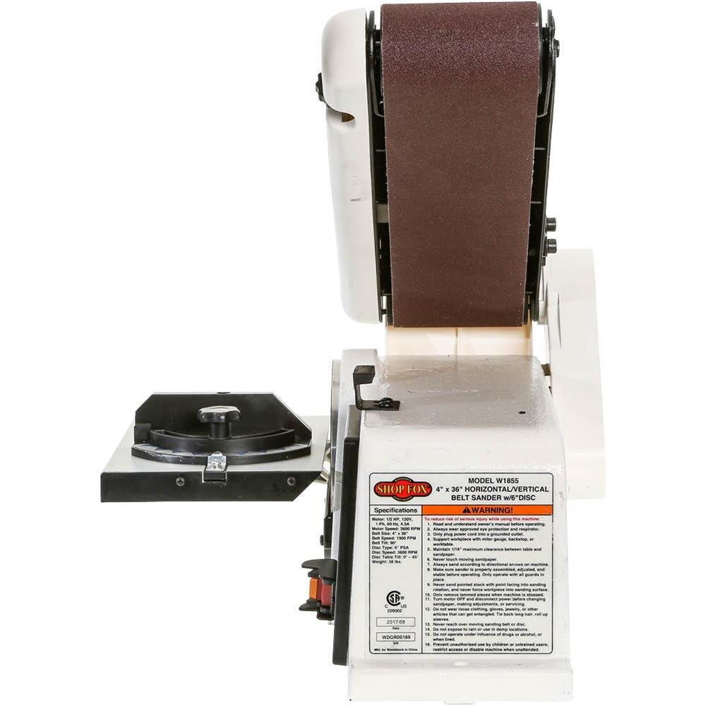 Shop Fox W1855 Disc & Belt Sanders product image 2