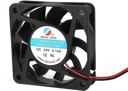 DC 24V 0.15A 60mm 2 Terminales ventilador de refrigeración para ...