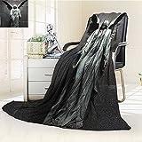 AmaPark Super Soft Lightweight Blanket Sculpture of an Angel with Dark Background Catholic Belief Century Dimgrey Oversized Travel Throw Cover Blanket
