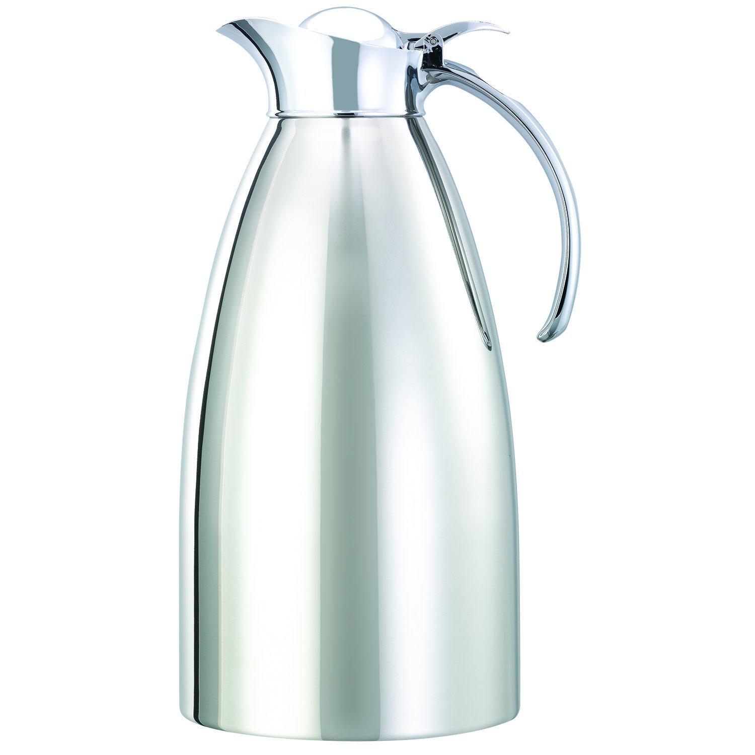 Service Ideas 982C10 Carafe, Stainless Steel Lined, Polished Exterior, 2 L