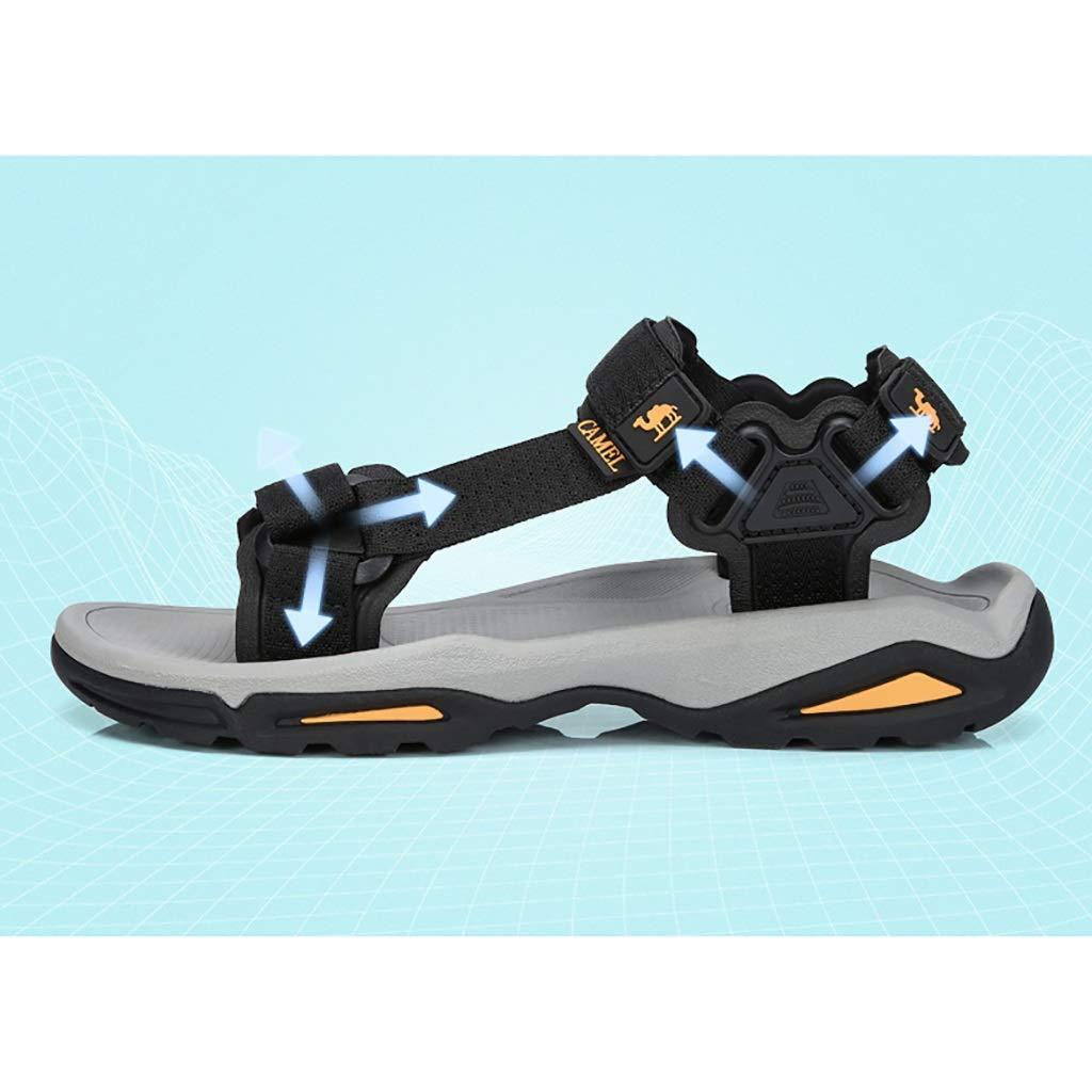 Herrensandalen Stoffklettverschlüsse Stoffklettverschlüsse Stoffklettverschlüsse tragen Freizeitschuhe, rutschfeste wasserabweisende Sandalen für Herren, MD-Haftschuhe tragen elastische Sandalen, leichte atmungsaktive Strandschuhe für den Somme 859a32