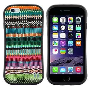 "Pulsar iFace Series Tpu silicona Carcasa Funda Case para Apple (4.7 inches!!!) iPhone 6 Plus / 6S Plus ( 5.5 ) , Patrón Arte Aleatorio Chevron"""