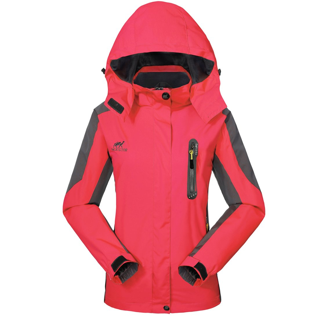 GIVBRO Waterproof Jacket Womens Rain Jacket -[UPGRADED 2018] Raincoat Ladies Outdoor Hooded Softshell Camping Hiking Mountaineer Running Jackets