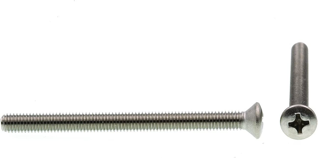 Pack of 100 8-32 X 1-1//2 in Oval Head Phillips Grade 18-8 Stainless Steel Prime-Line 9010696 Machine Screw