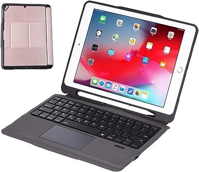 HaoHZ Teclado Touchpad para iPad 8th / 7th Generation 10.2 2020, Teclado para iPad Air 10.5, Funda de Cuero PU Premium con Teclado Bluetooth ...