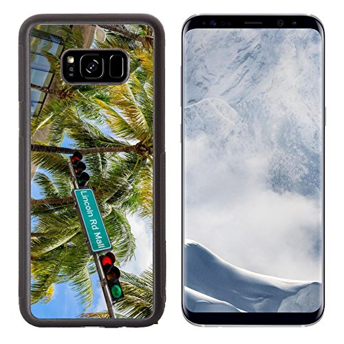Liili Premium Samsung Galaxy S8 Plus Aluminum Backplate Bumper Snap Case Lincoln Road Mall street sign located in Miami Beach - Florida South In Mall Beach