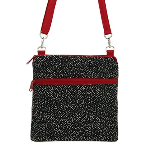 Image Unavailable. Image not available for. Color  Women s Black Red  Crossbody ... 76dcc29f0cce8