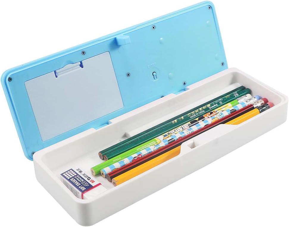 Sikaye - Estuche para lápices electrónicos para estudiantes, multifuncional, con cerradura de contraseña: Amazon.es: Oficina y papelería