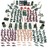 307PCS Military Figures and Accessories, Military Base Set War Soldiers Playset Battlefield Accessories for Party Favor