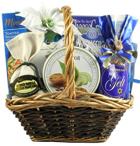 8 Days Of Light Gourmet Hanukkah Gift Basket by Organic Stores