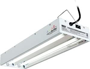 Hydrofarm Agrobrite FLT22 T5 Fluorescent Foot, 2 Tube Grow Light System, 2-Feet, Black