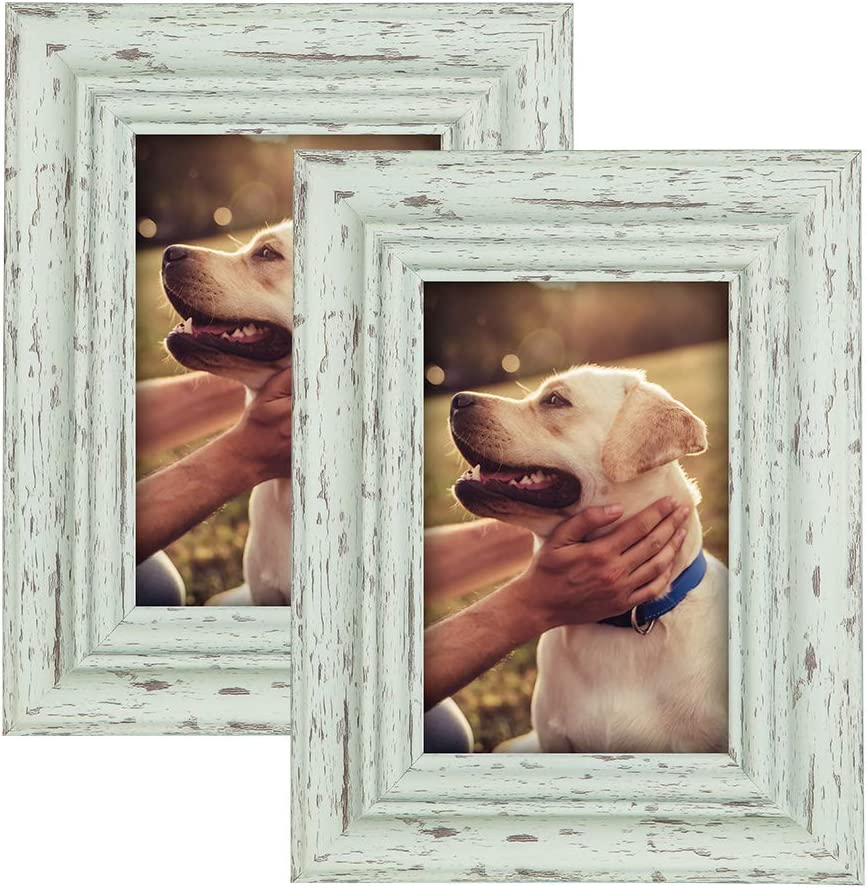 MUDEELA Fits 5x7 inches Picture Frame, Set of 2 Photo Frames, 2-Layer Thickened Design, Durable Wall Gallery Picture Frames, for Table Top Display and Wall Mounting -