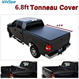 "6.8ft (81.8"") Roll-up Tonneau Cover for 1999-2016 F250/F350 Super Duty Pickup 1pc Black Vinyl Bed Assembly"