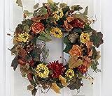 Autumn Fantasy Colorful Floral Fall Wreath