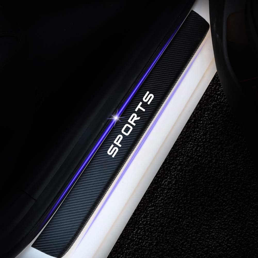 for Suzuki X5 Liana Alto Swift Antelope SX4 S-Cross Jimny Vitara Carbon Fiber Door Sill Protector Scratch Door Sill Guard 4D Welcome Pedals Guards Threshold Sticker Sticker White 4Pcs