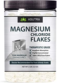 Pure Zechstein Magnesium Chloride Flakes - Doctor Recommended For Foot & Body Soaks + FREE Magnesium