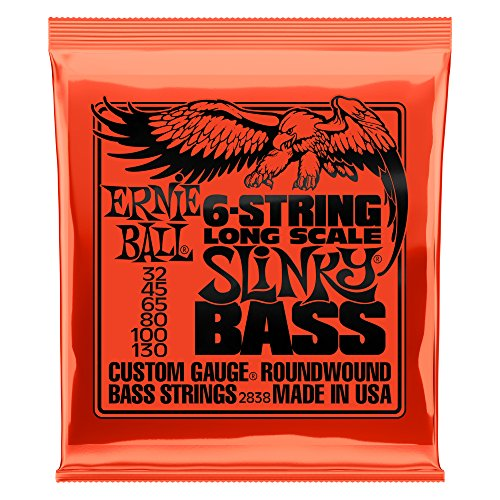 Ernie Ball 6-String Slinky Nickel Wound Bass Set, .032 - - Bass Wound Nickel