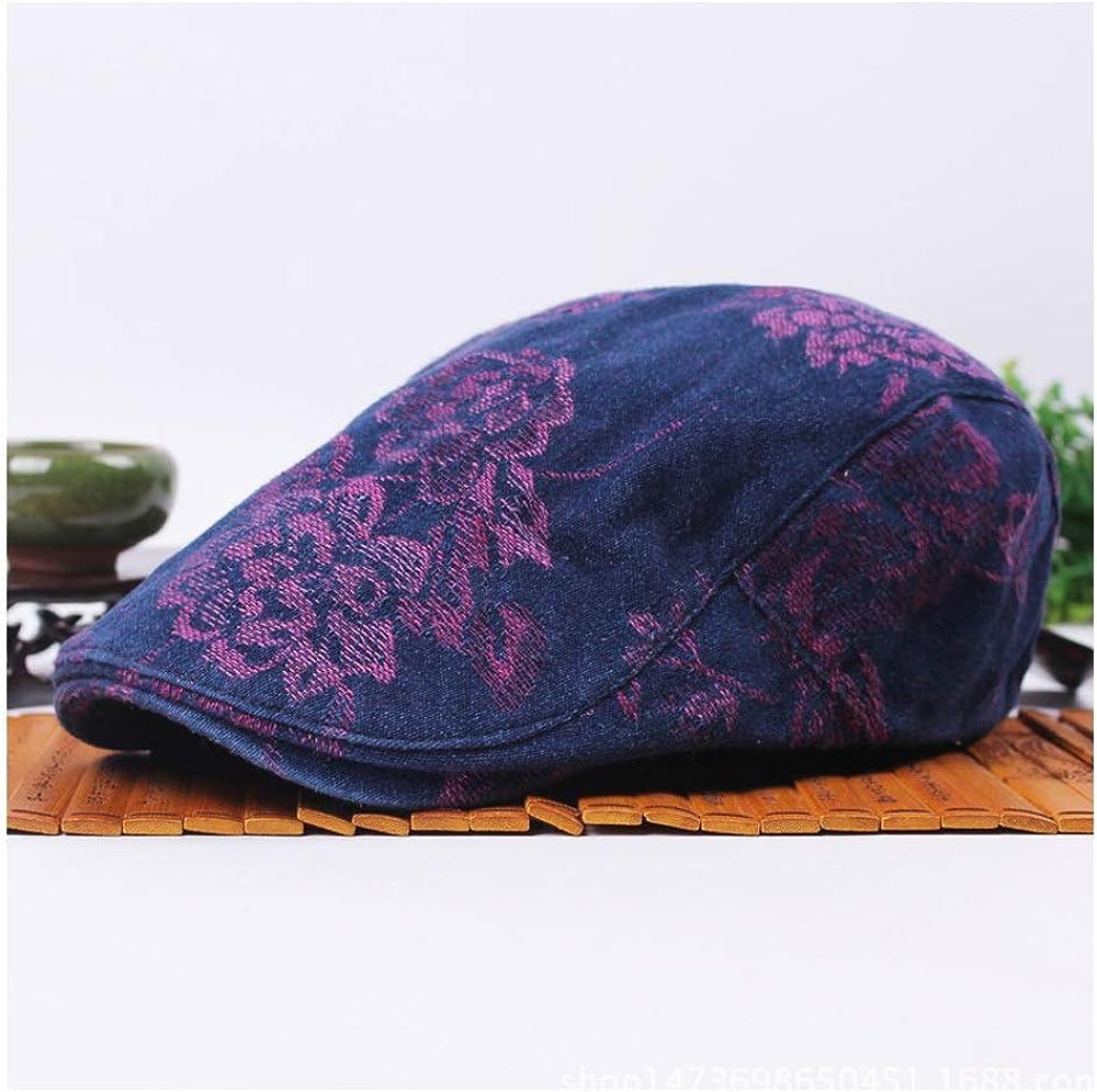 Caps Mens Womens Spring Summer Floral Embroidery Sun hat Cotton Beret Cap Couple Lovers Beret Flat Cap Elegant Hats Fashion Hats Natural Caps