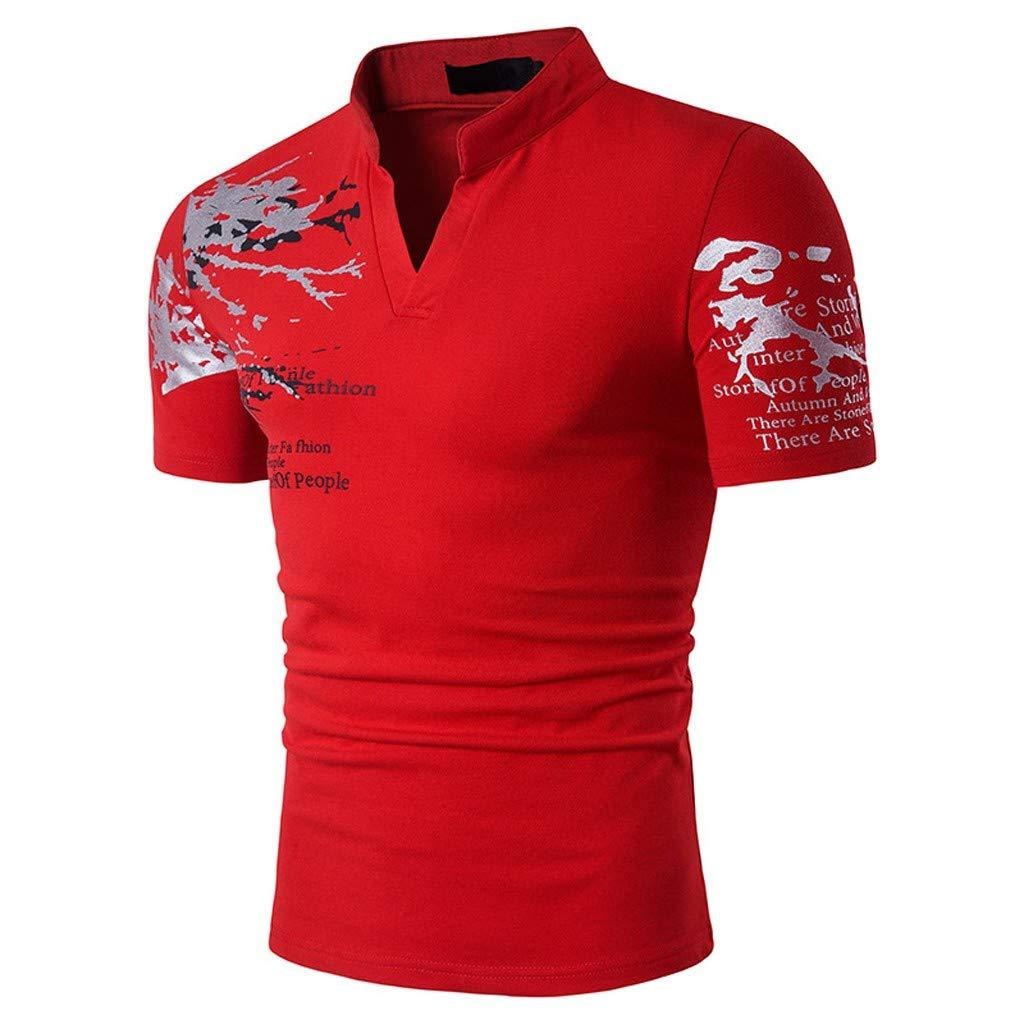Homebaby Maglietta Polo da Uomo Eleganti Vintage T-Shirt Manica Corta in Cotone Moda Vintage Palestra Slim Fit Fitness Tops Casuale Palestra Estive Camicie Uomo Slim Fit