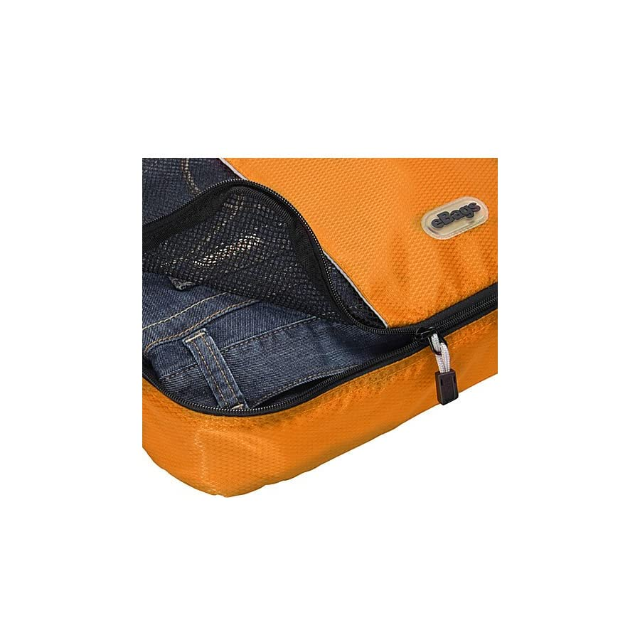 eBags Packing Cubes for Travel 3pc Set (Tangerine)