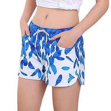 b197de7741 Halijack Women Beach Shorts Summer Bohe Quick Dry Swim Trunks Casual  Waterproof Bathing Suits Swimwear Surfing Running Board Shorts Pants with  Pockets: ...
