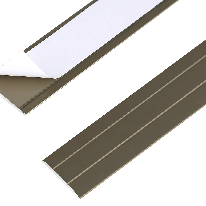 Silber Toolerando /Übergangsprofil /Übergangsleiste Bodenleiste aus Aluminium Selbstklebend Profil 90 cm x 36 mm x 2,5 mm