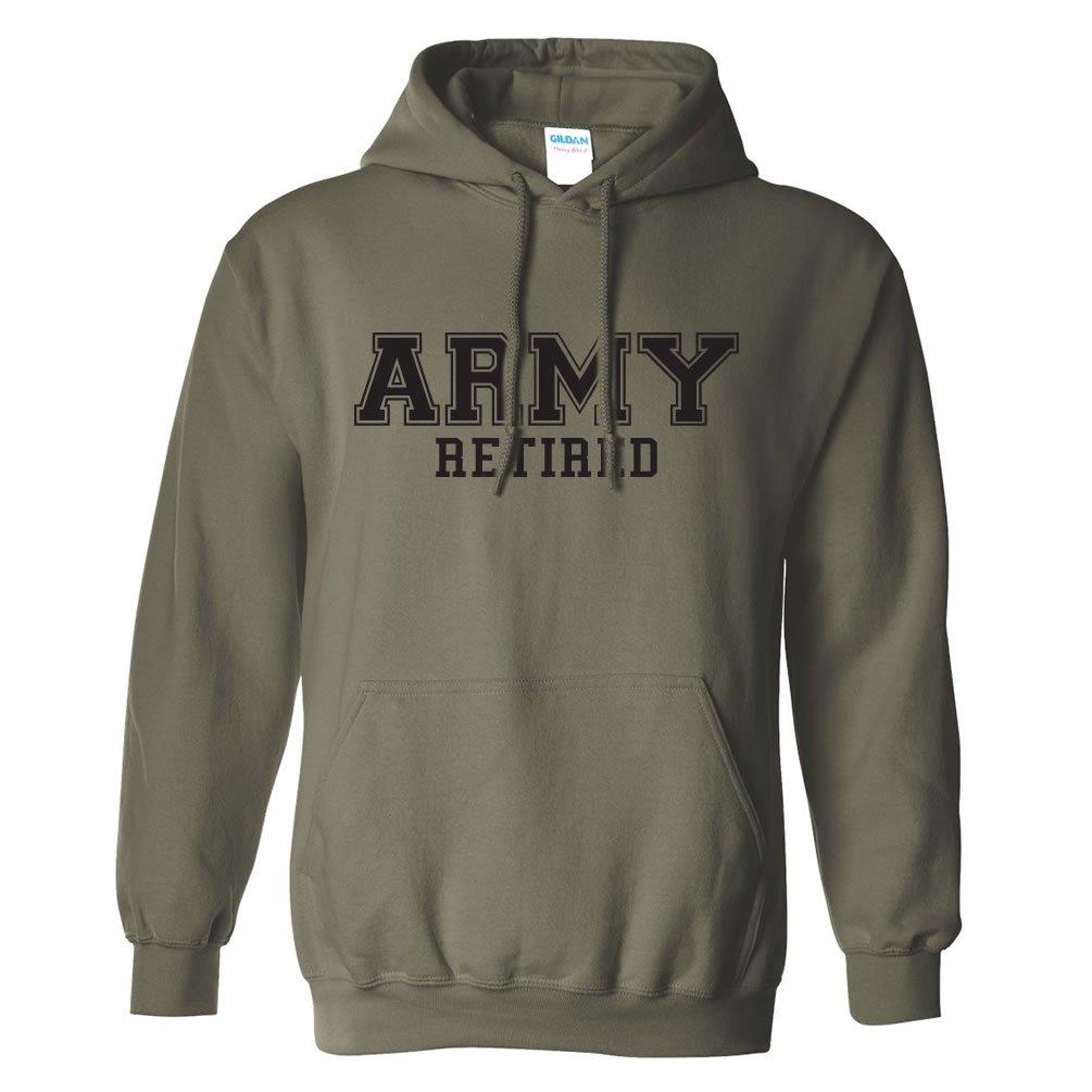 ZeroGravitee Army Retired Black Logo Hooded Sweatshirt