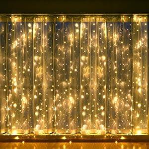 Amazon Com Leapair Curtain Lights 600led 19 69 X 9 8ft